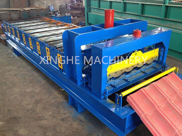 Trung Quốc Automatic Glazed Tile Roll Forming Machine With 2.5 Ton Capacity Decoiler nhà cung cấp