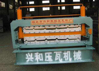 Trung Quốc Automatic Double Deck Roll Forming Machine For Making Steel Roof Panel nhà cung cấp
