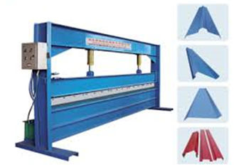 Trung Quốc Blue Color 4m Width Hydraulic Sheet Bending Machine For Galvanized Steel Coil nhà cung cấp