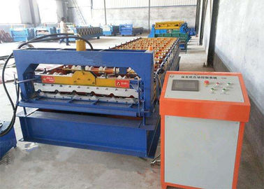 Trung Quốc Green Color Roofing Sheet Roll Forming Machine With Stainless Steel Slide nhà cung cấp