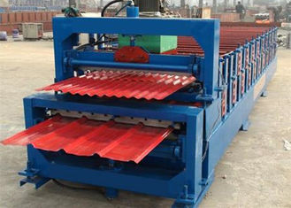 Trung Quốc 5.5KW High Speed Roof Panel Roll Forming Machine With High Precision In Cutting nhà cung cấp