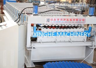 Trung Quốc Double Layer Roll Forming Machine , Metal Roofing Corrugated Steel Sheet Wall Panel Tile Making Machine nhà cung cấp