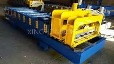 3kw Roof Roll Forming Equipment / Tiles Making Machine With 9 Rows Rollers