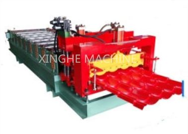 828 Computer Full Automatic Water Ripple Glazed Steel Tile Roll Forming Machine
