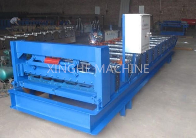 Sheet Metal Glazed Tile Roll Forming Machine With 4 Tons High Capacity