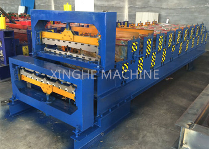 Aluminum Metal Roofing Sheet Making Machine , Steel Tile Forming Machine