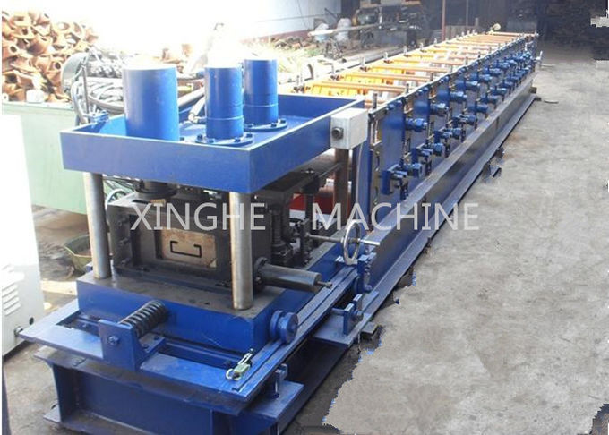 7.5 KW Galvanized Steel Purlin Roll Forming Machine With 6 Ton High Capacity