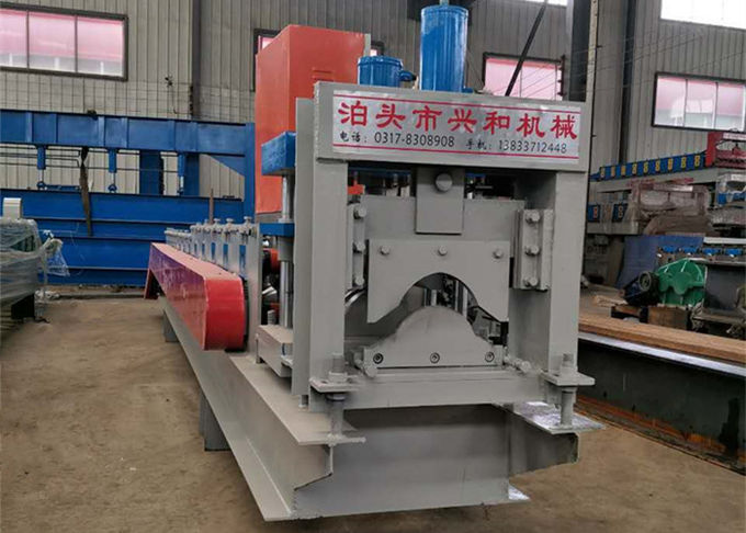 Galvanized Roof Ridge Cap Roll Forming Machine With Hydraulic Pressing Machine