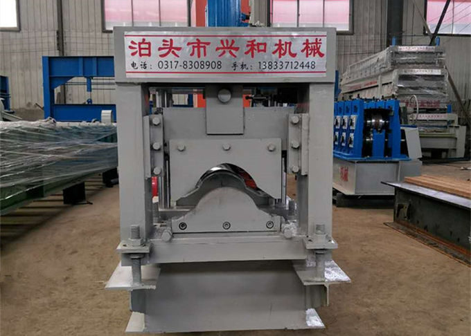 Grey Color Ridge Cap Roll Forming Machine Using GI Colored Steel Material
