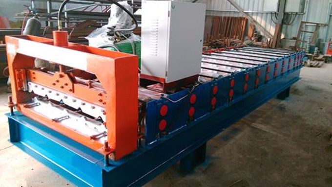 3kw High Speed Roof Panel Roll Forming Machine Using Galvanized Steel Coil
