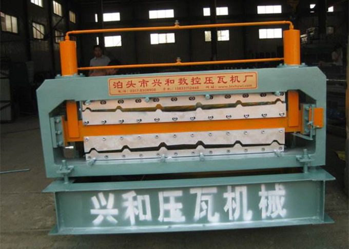 Automatic Double Deck Roll Forming Machine For Making Steel Roof Panel
