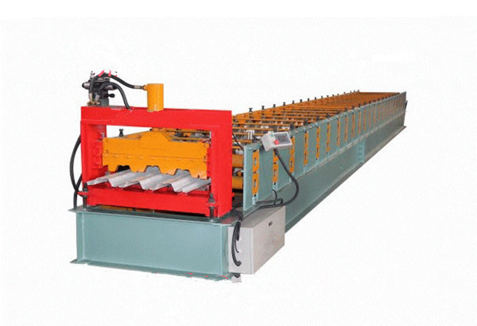 Automatic 380V Steel Roll Forming Machine , Step Tile Roll Forming Machine