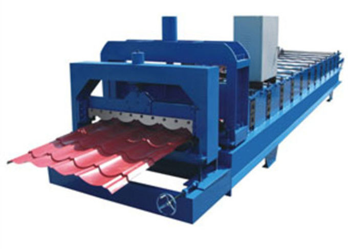 Glazed Tile Roof Panel Cold Roll Forming Machines / Roofing Sheet Roll Forming Machine